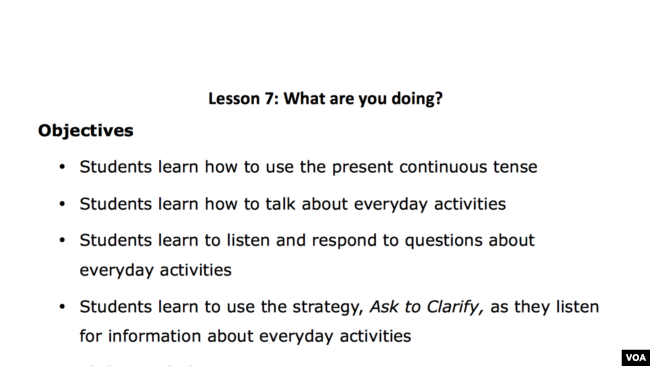 Lesson 7: What Are You Doing?