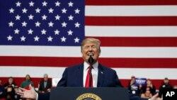 Tổng thống Trump trong cuộc vận động ở Pennsylvania hôm 10/3.