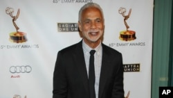 "FILE - Actor Ron Glass arrives at the 65th Emmy Awards Nomination Celebration at the Academy of Television Arts and Sciences in Los Angeles, Sept. 17, 2013. Glass, best known for his role as Ron Harris in ""Barney Miller"" has died at age 71."