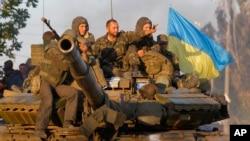 Binh sĩ Ukraine tại thành phố cảng Mariupol, phía đông nam Ukraine, 5/9/2014.