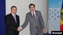 Влад Филат и Михаил Саакашвили. Фото: сайт правительства Молдовы