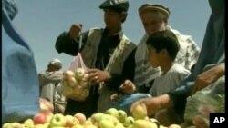 چین افغانستان ته یو لړ زراعتي حاصلات ورکړل.