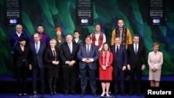 Các thành viên Hội đồng Bắc cực tại hội nghị thượng đỉnh Hội đồng Bắc cực ở Rovaniemi, Phần Lan ngày 7/5/2019.