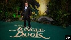 "Sutradara Jon Favreau dalam pemutaran perdana film ""The Jungle Book"" di London, 13 April 2016 (Foto: dok)"