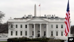 백악관 전경.