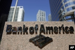 FILE - A Bank of America branch is shown in downtown Miami, Oct. 14, 2012.