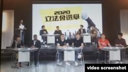 香港立法会选举九龙西选区民主派参选人27日参加地区论坛。