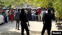 Une manifestation en soutien au leader pro-Biafra Nnamdi Kanu, le 1er décembre 2015 à Abuja. (REUTERS)