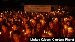 Global Action Day for Larung Gar observed in Dharamsala Photo courtesy Lhakpa Kyizom