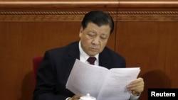 Ông Lưu Vân Sơn, Ủy viên Thường vụ Bộ Chính trị, Bí thư Ban Bí thư Trung ương Đảng Cộng sản Trung Quốc.