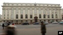 벨라루스 수도 민스크 시내의 국영 은행 건물. (자료사진)