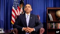 奥巴马每周讲话猛批保险公司阻挠医改