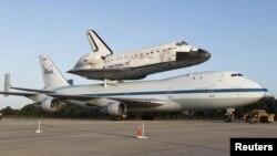 El martes el Discovery sobrevolará la capital estadounidense a bordo del Boeing 747