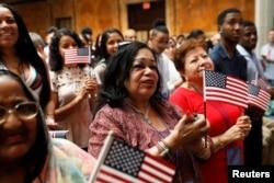 지난해 7월 뉴욕 맨해튼에서 시민권 선서식이 열렸다.