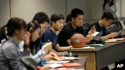 Các du học sinh Trung Quốc tại ĐH Texas, Hoa Kỳ.