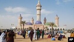 Vue d'une mosquée au Sénégal.