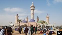 Vue d'une mosquée au Sénégal