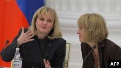 Слева напрво: Элла Памфилова, Ирина Ясина. Архивное фото.