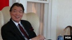 台湾驻美代表沈吕巡 (美国之音黄耀毅 拍摄)