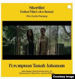 Film Perempuan Tanah Jahanam (Courtesy: Instagram FFI).