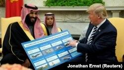 Президент США Дональд Трамп встретился с наследным принцем Саудовской Аравии Мохаммедом бин Салманом. Белый дом, Вашингтон. 20 марта 2018 г.