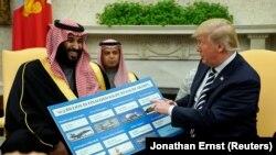 Prezidan Trump ap mete evan Mohammed bin Salman kèk reyalizasyon gouvènman li a fè pandan 1 nan 2 mwa li deja pase sou pouvwa a.
