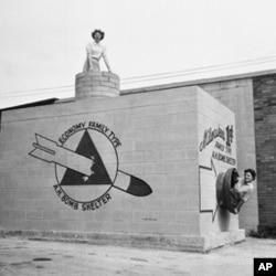 1958年一个美国家庭的防空掩蔽所