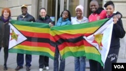 Some of the Zimbabweans and Americans who took part in the AIDS Walk Washington DC