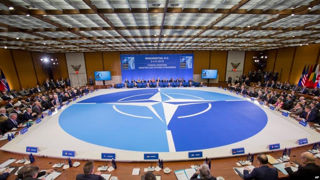 Một buổi họp của NATO tại Bộ Ngoại Giao Hoa Kỳ, tháng Tư, 2019.