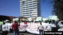 NRz workers staged peaceful protests in Zimbabwe's second largest city, Bulawayo recently.