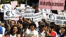 تظاهرات اعتراضی در اسپانيا در واکنش به اوضاع اقتصادی