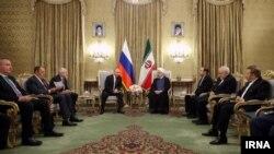 دیدار حسن روحانی با ولادیمیر پوتین رئیس جمهور روسیه در تهران