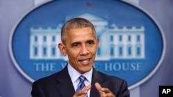 Le président des Etats-Unis Barack Obama, 16 décembre 2016.