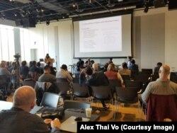 Cử tọa tại hội thảo về chủ nghĩa cộng hòa ở Việt Nam; Đại học Oregon, 14/10/2019