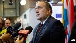 Menteri Luar Negeri Polandia, Grzegorz Schetyna mengritik rencana Uni Eropa untuk memberlakukan kuota migran (foto: dok).