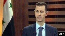 Tổng thống Syria Bashar al-Assad phát biểu trong một cuộc phỏng vấn tại Damascus, ngày 29/8/2012