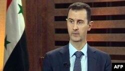 29일 시리아 방송에 출연한 바샤르 알 아사드 시리아 대통령.
