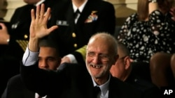 Alan Gross no Capitólio, Washington, Jan. 20, 2015.