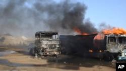 Explosion après une attaque-suicide à Maiduguri, Nigeria, 3 mars 2017.