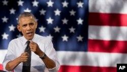 Presiden Barack Obama saat berpidato tentang ekonomi di Denver, 9 Juli 2014 (Foto: dok).