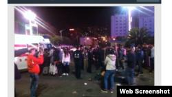發生殺人事件後的昆明火車站(新浪網截圖)