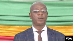 Ziyambi Ziyambi, Zimbabwe's justice minister. Photo taken in May 2019 in Chinhoyi town. (C. Mavhunga/VOA)