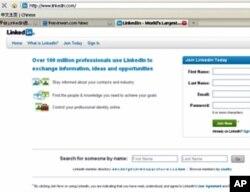 LinkedIn网站网络截屏