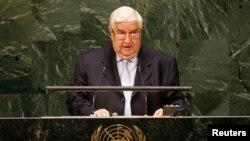 叙利亚外交部长穆阿利姆在联合国大会讲话(2014年9月29日)