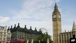 빅뱅 타워가 보이는 영국 런던 거리. (자료사진)