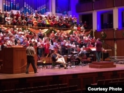 Rehearsal on stage at Kennedy Center, Dec. 12, 2016. (Courtesy P. Murdock)