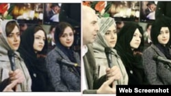 سمت راست: عکس سانسور شده/ سمت چپ: عکس اصلی