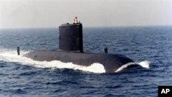 Le sous-marin britannique HMS Upholder, maintenant détenue par le Canada et rebaptisé NCSM Chicoutimi. Photo non datée.