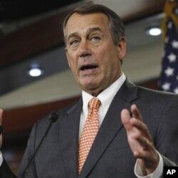 ປະທານສະພາຕໍ່າສະຫະລັດ ທ່ານ John Boehner ສັງກັດພັກຣີພັບບລິກັນ.