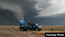 Doppler on Wheels 7 samples a severe thunderstorm in western Nebraska. (Photo by Tim Marshall, 2010)